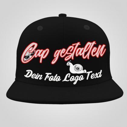 cap selbst gestalten - foto text logo
