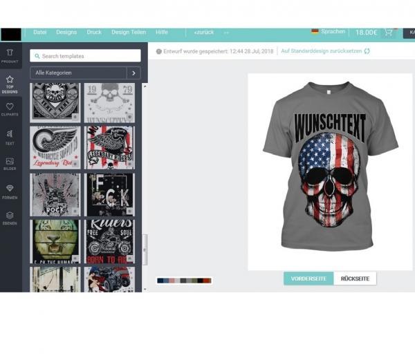 t-shirt bedrucken online