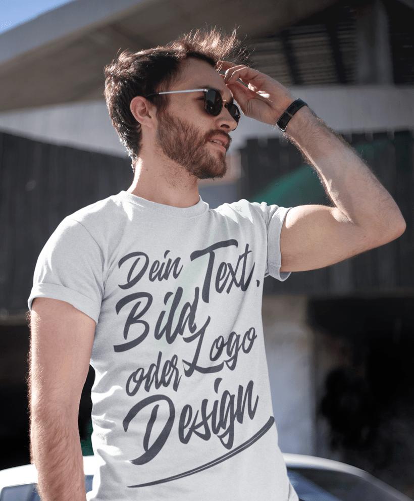 Herren T Shirt Druck Wunsch Shirts Online Gestalten
