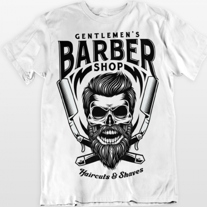 barber shop t-shirt cool logo shirts kaufen