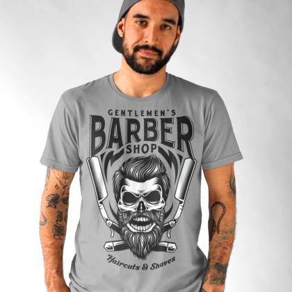 barber t-shirt herren friseur werbung