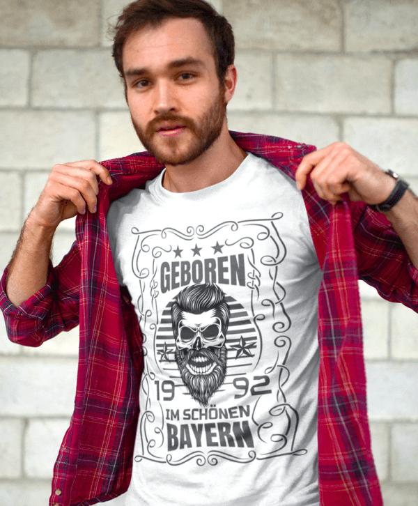 bayern t-shirt gegeboren stadt bedrucken