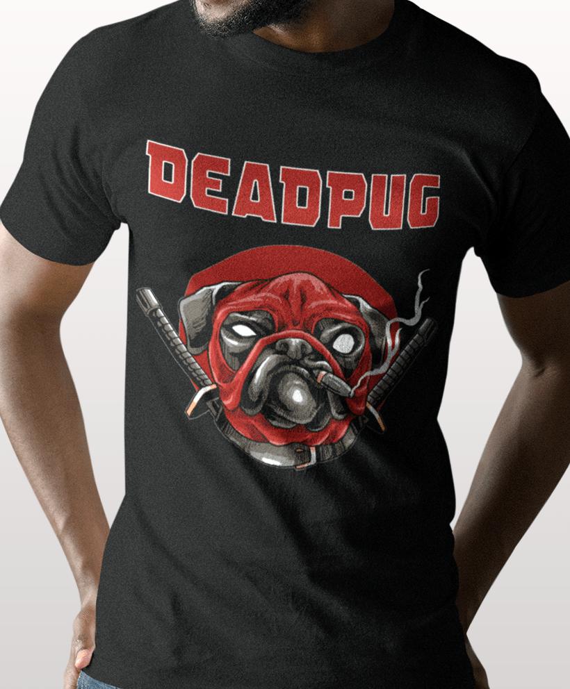 new product 7041b c653b Comic T-shirt für Männer - Deadpug Funshirt