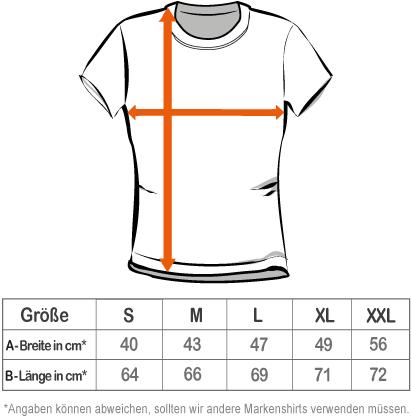 grössentabelle t-shirt damen s m l xl xxl