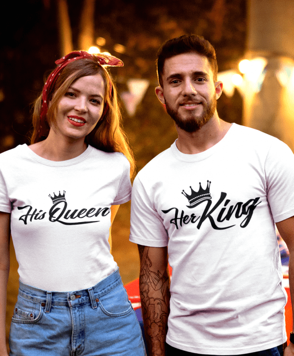 her king his queen t-shirts gestalten