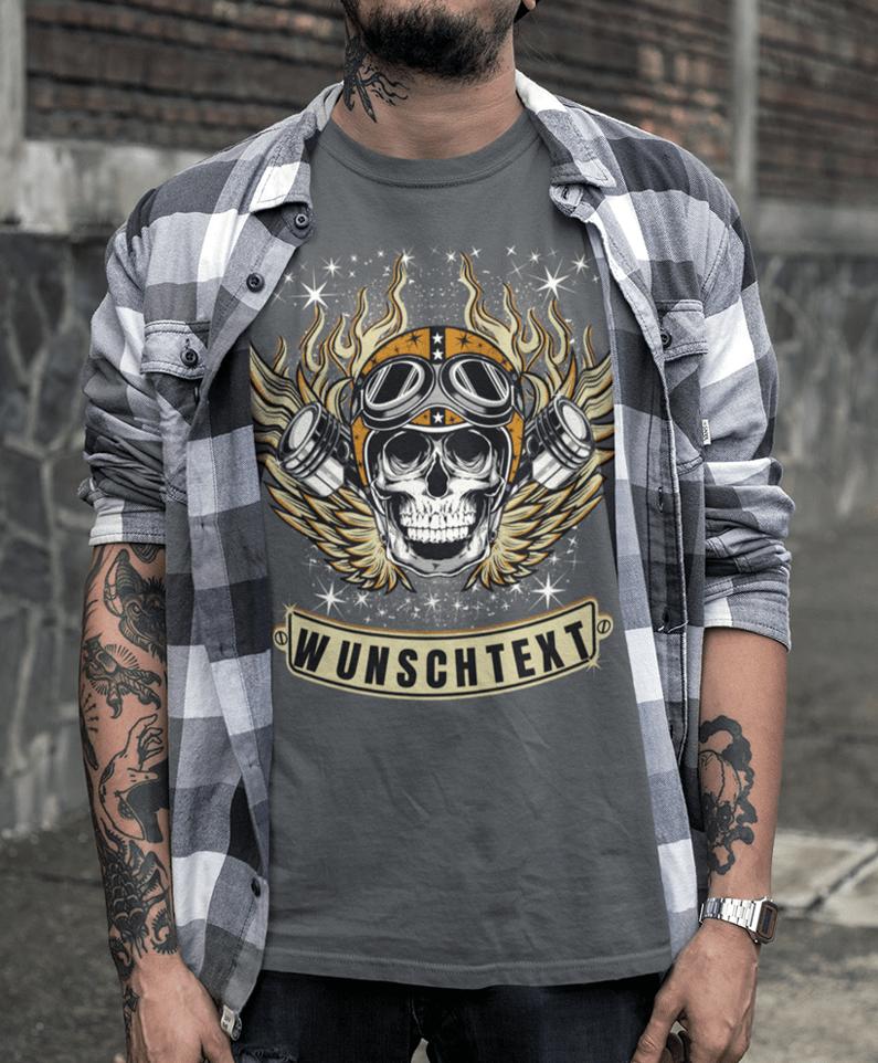 bca3d427cb75c1 Totenkopf T-shirt Herren bedrucken lassen - Coole Shirts mit Totenkopf