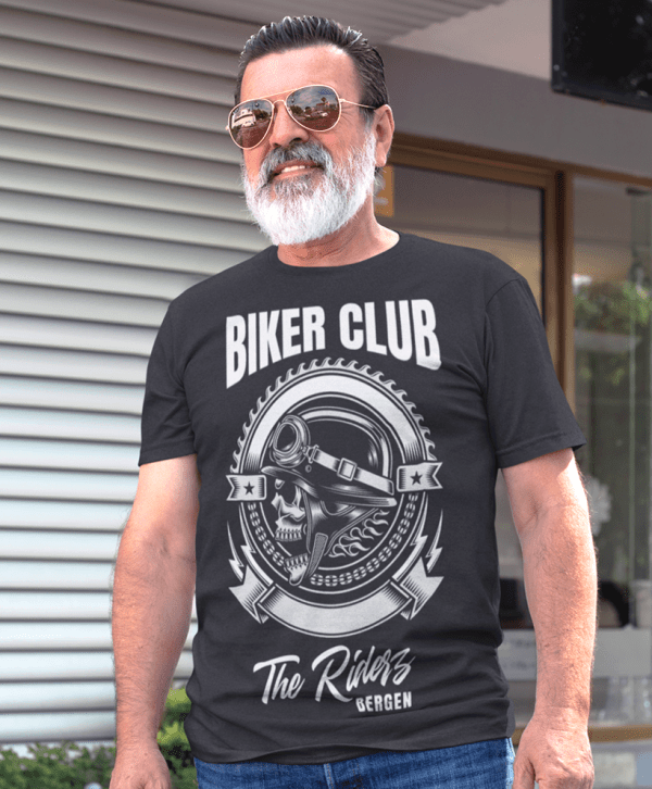 herren custom t-shirt cool biker