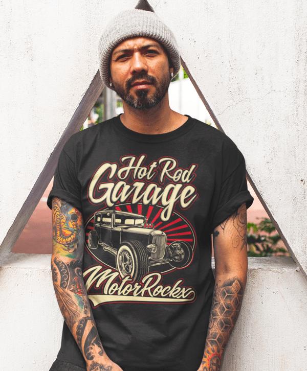hot rod car tuning t-shirt low