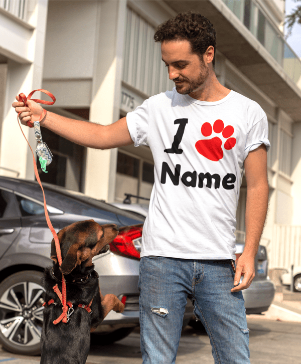 hundebesitzer t-shirt i pfote