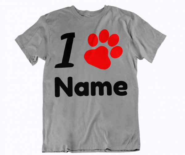 i love shirt name selbst hundepfote dog