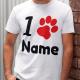 i pfote name t-shirt hunde gestalten
