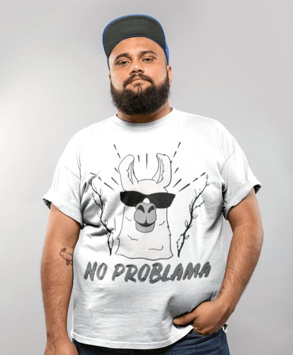 lama lustige t-shirt no problama
