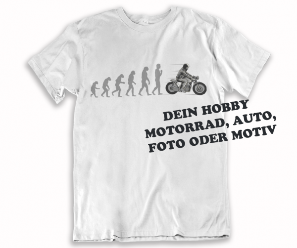 lustige t-shirt evolution motiv custom