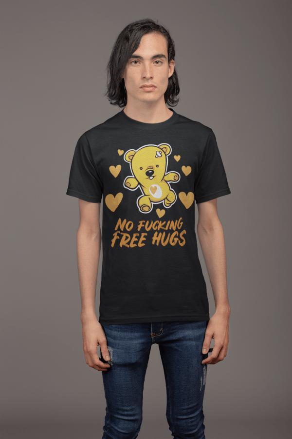 lustige t-shirt free hugs