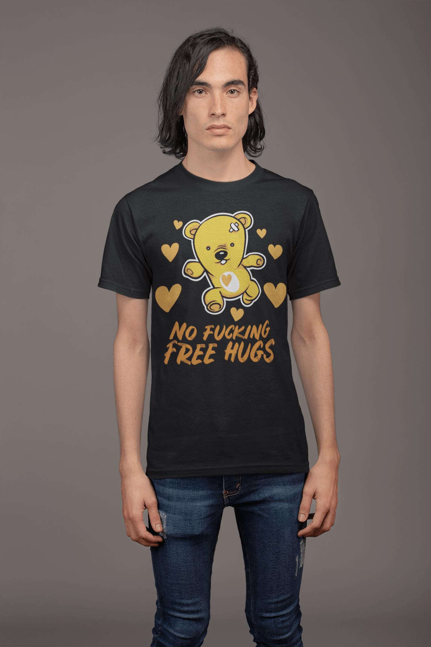 low priced e6392 ea06a Lustige T-Shirt für Männer - Free Hugs Sprüche Funshirt kaufen
