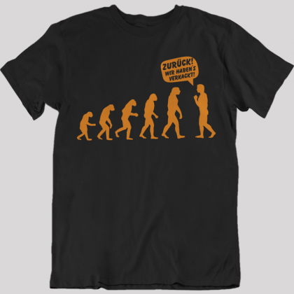 mensch affe evolution t-shirt funshirts