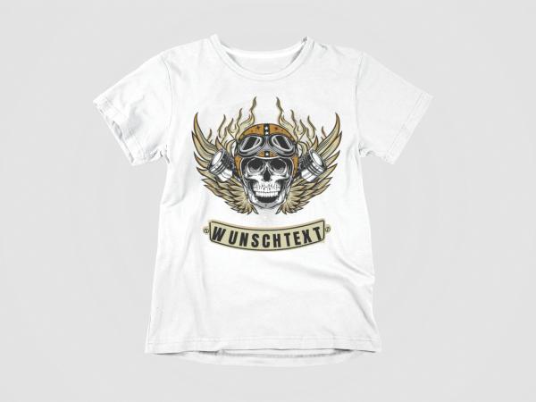modeshirts t-shirt totenkopf