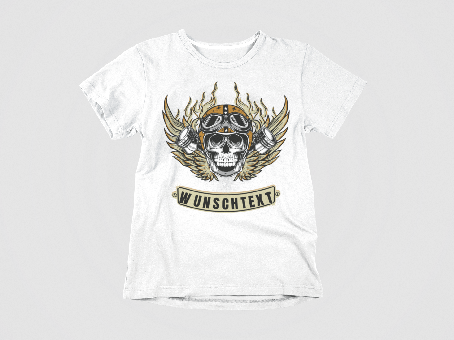 24a397abe98dd5 Totenkopf T-shirt Herren bedrucken lassen - Coole Shirts mit Totenkopf