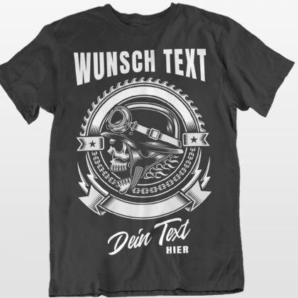 Personalized t-shirt motorrad totenkopf