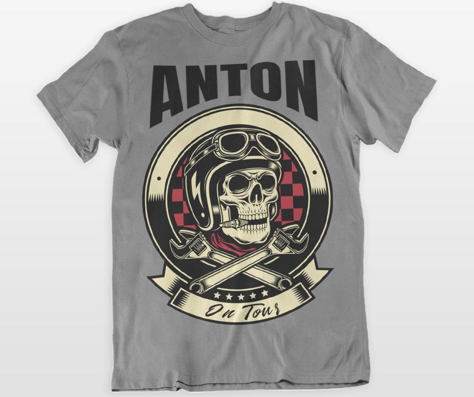 Herren T Motorrad Text Mit amp; Shirt Design Biker Eigenem dd8xr