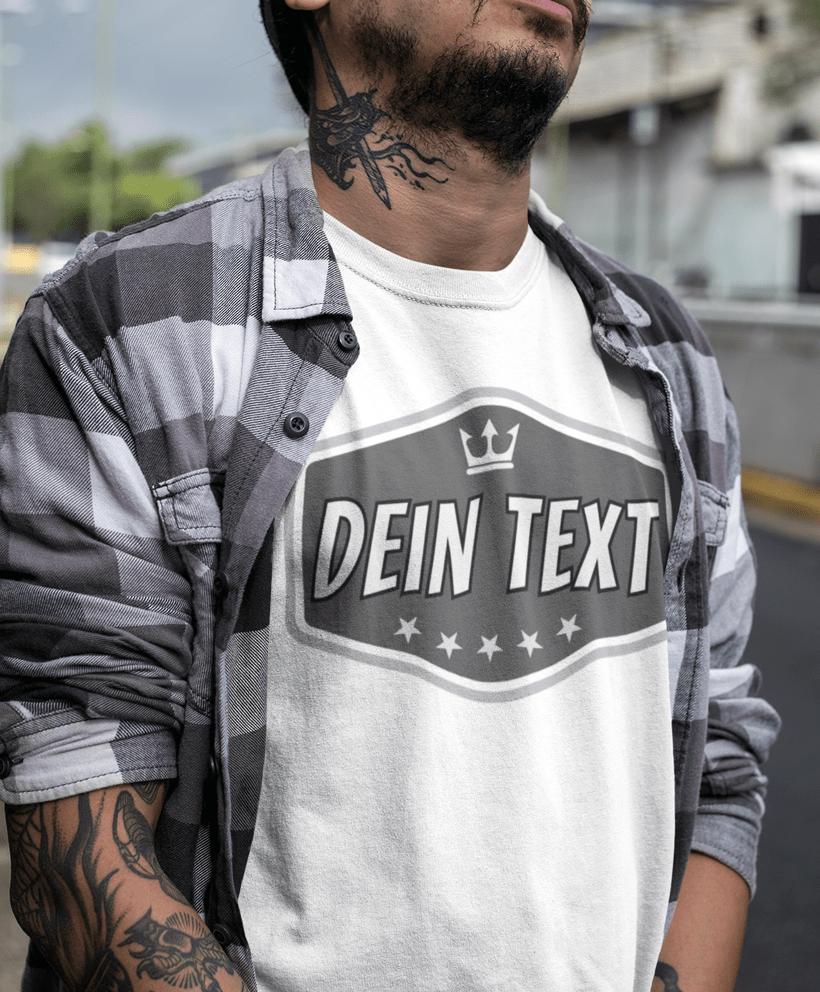 huge selection of a2c58 2830b Logo T-Shirt - Herren Mode mit Text selber gestalten