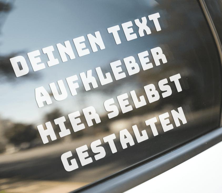 Online Text Aufkleber Selbst Gestalten Sticker Bis 35cm Kostenlos Designen