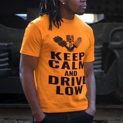 autotuning-t-shirt-cool-federn-drive-low-keep-calm-shirt