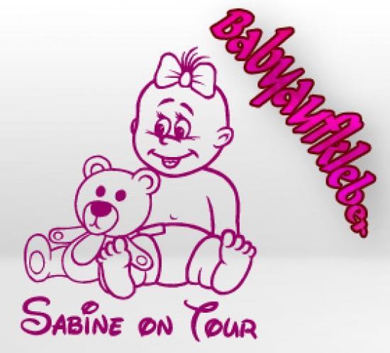 mädchen babyaufkleber baby autoaufkleber board tour