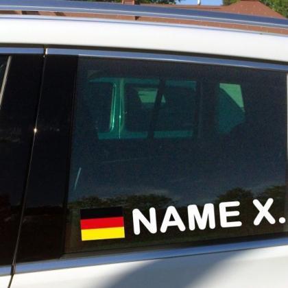 flaggenaufkleber fahrer beifahrer aufkleber motorsport deutschland