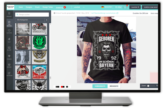 fotogeschenke online t shirt selbst gestalten