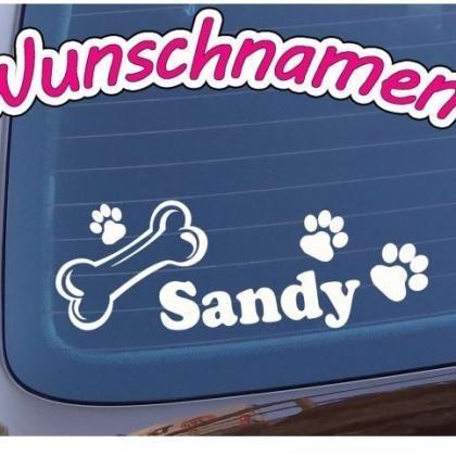 hundeaufkleber fürs auto hundepfoten