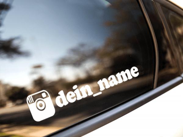 instagram aufkleber auto namen kaufen sticker