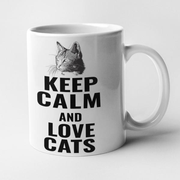 keep calm cat katze geschenk tier katzenbesitzer