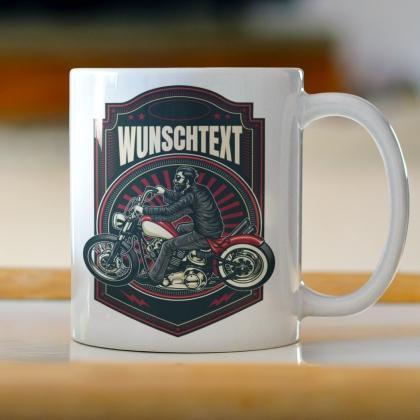 Männer Geschenke Tasse biker Motorradfahrer gestalten