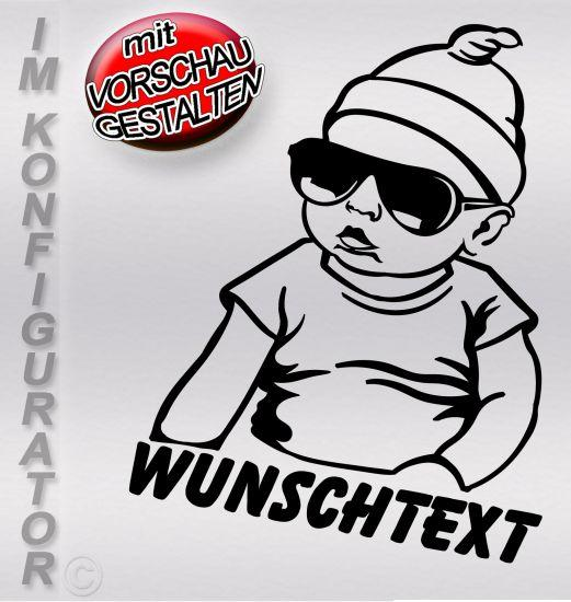 Namensaufkleber Auto hangover Baby sticker