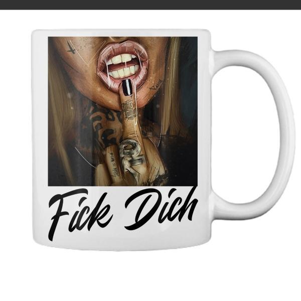 provokante Tasse mit Mittelfinger coole fotogeschenke