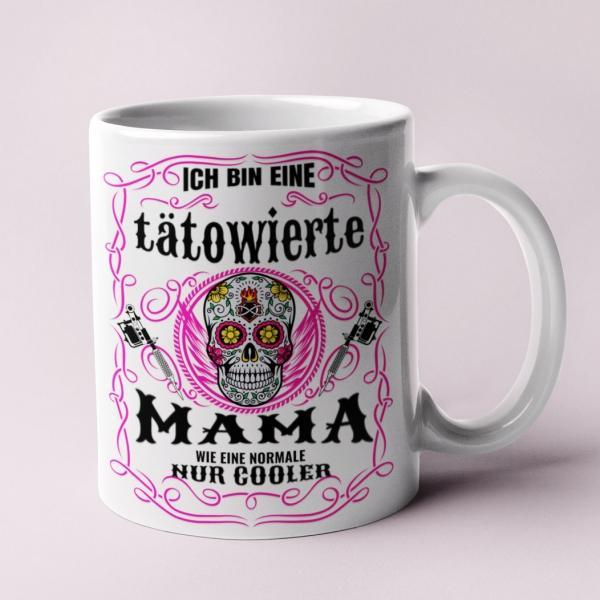 tatowierte mama Tasse Fotogeschenk coole mutter