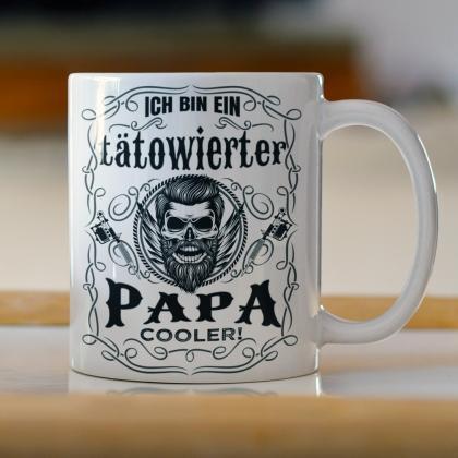 tatowierter Papa Tasse cooler als normaler tattoo Geschenk