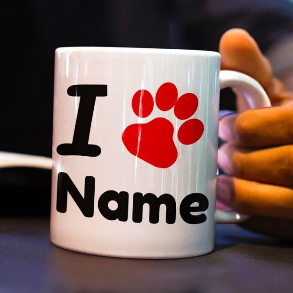 Tiertasse Hunde Tasse namen Pfoten gestalten