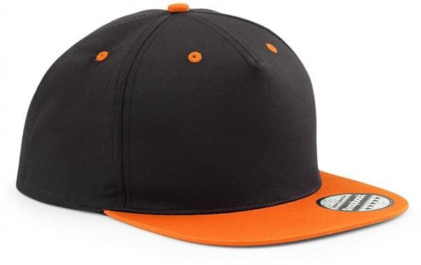 snapback-cap-kappen-schwarz-orange-zweifarbig